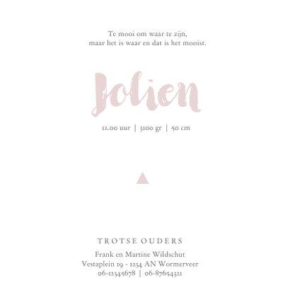 Stoer geboortekaartje voor een meisje met driehoekjes 3