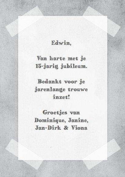 Tijdschriftkaart jubileum werk 3