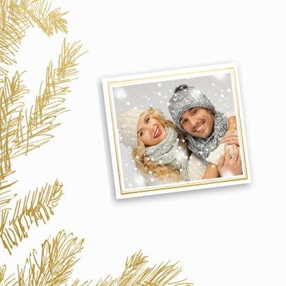 Trendy kerstkaart goudprint - SG 2