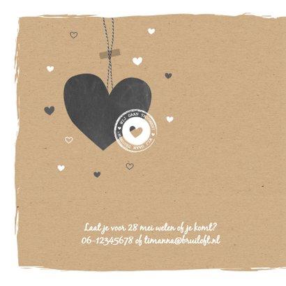 Trouwen - Groot  hart, stempel 2