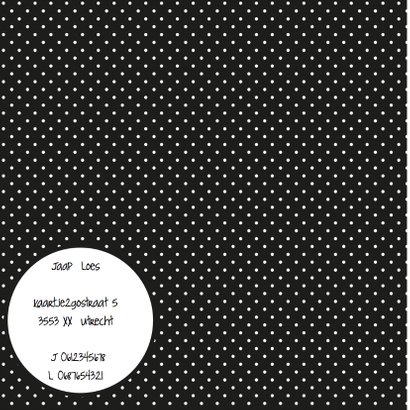 Trouwkaart Black&White stip 2