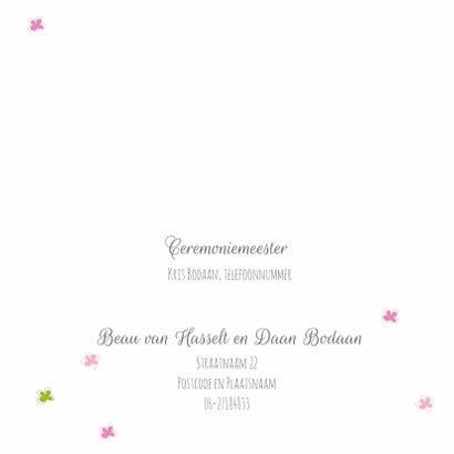 Trouwkaart Bohemian roze 2