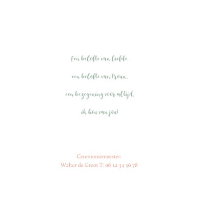 Trouwkaart bruidspaar waterverf  2