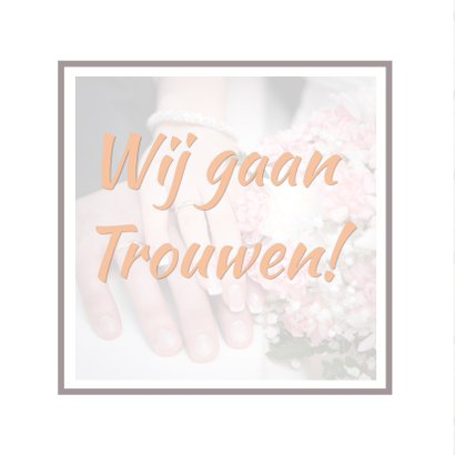 Trouwkaart collage hout RB 2