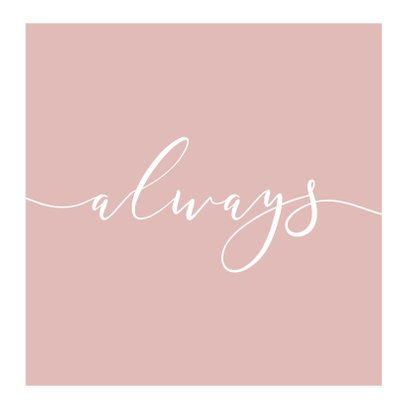 Trouwkaart fotocollage 'Always' 2