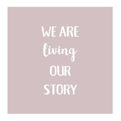 Trouwkaart fotocollage 'Living our story' 2