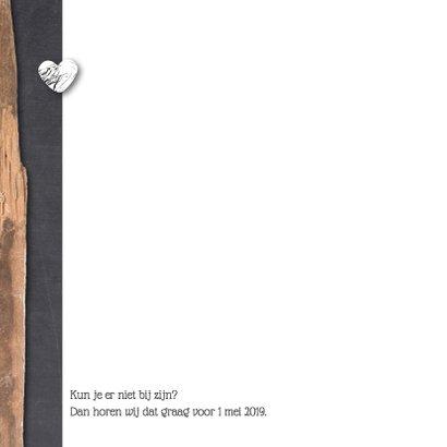 Trouwkaart-houtkrijt-BartRachel 2