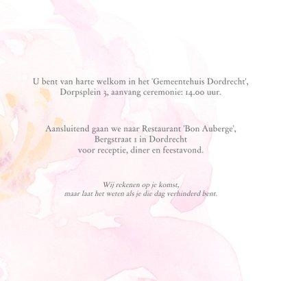 Trouwkaart met rozen aquarel 3