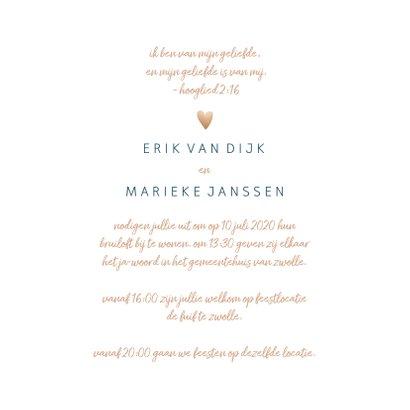 Trouwkaart 'Mr and mrs' met goudlook en waterverf 3