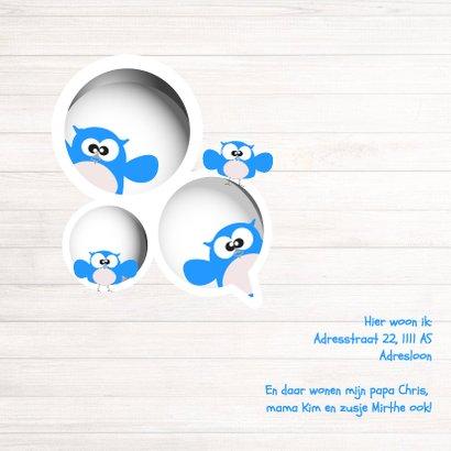 Uiltje gezin geboortekaart van Mo Cards - aanpasbaar 2
