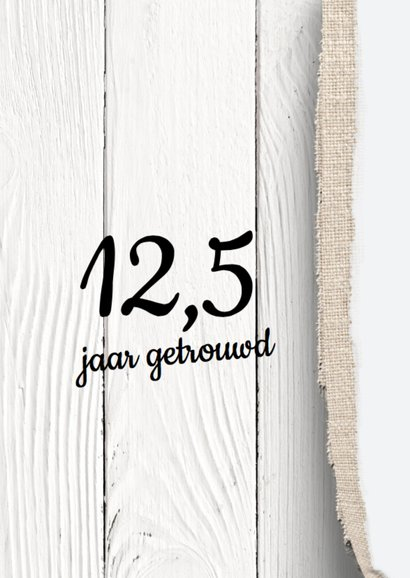 uitnodiging 25 jaar getrouwd - hout  design LO 2