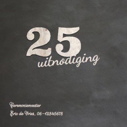 uitnodiging - 25 jaar getrouwd met cijfers hout 2