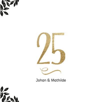 Uitnodiging 25 jaar huwelijk Cheers 2