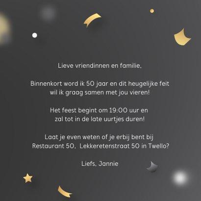 Uitnodiging 50 jaar verjaardag 3