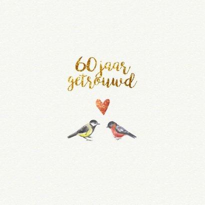 uitnodiging 60 jaar getrouwd aquarel 2