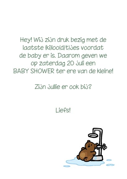 Uitnodiging baby shower baby douche 3