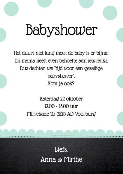 Uitnodiging babyshower olifantjes mint 3
