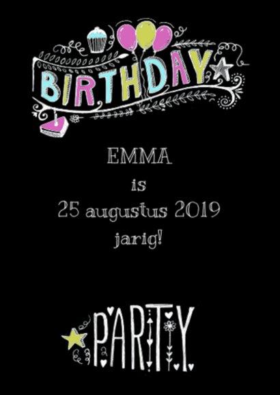 Uitnodiging Birthday Party tekst 2
