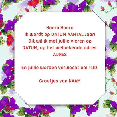 Uitnodiging bloemen en foto RB 3