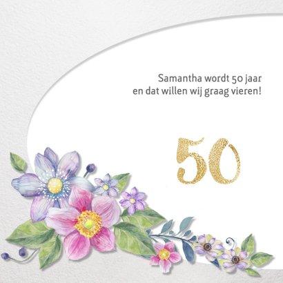 Uitnodiging Clematis 50 jaar 2