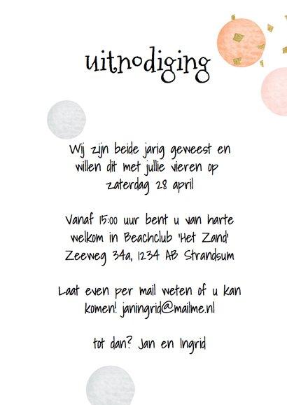 Uitnodiging feest - confetti 3