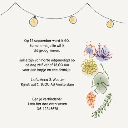 Uitnodiging feest Flowers 3