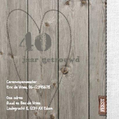 Uitnodiging feest hout en Linnen 2