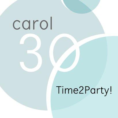 Uitnodiging feest label en foto 2