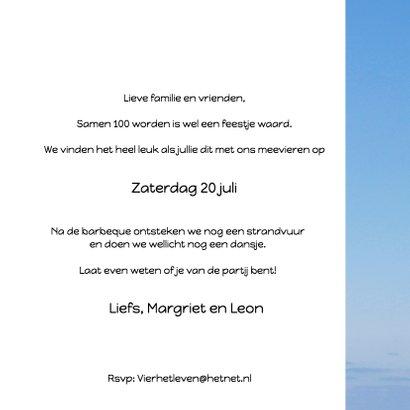 Uitnodiging feest wegwijzer blauwe lucht 3