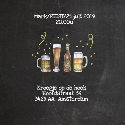 Uitnodiging feestje bier 2