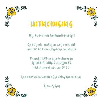 Uitnodiging hollands feestje  3