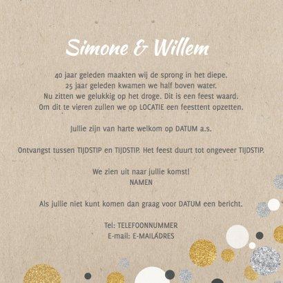 Uitnodiging jubileum confetti 3