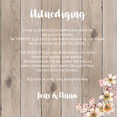 Uitnodiging jubileum foto bloemen 3