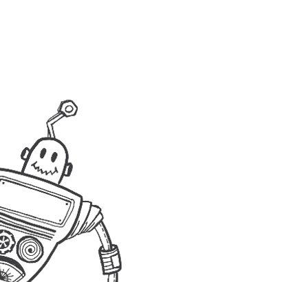 Uitnodiging kinderfeest robot 2