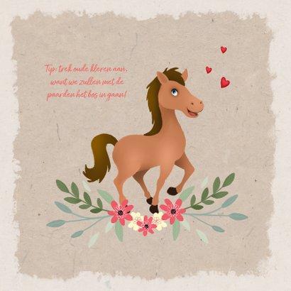 Uitnodiging kinderfeestje paardje met foto 2