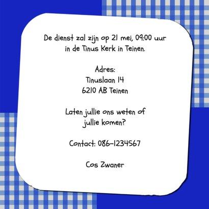Uitnodiging krijtbord blauw - BK 3