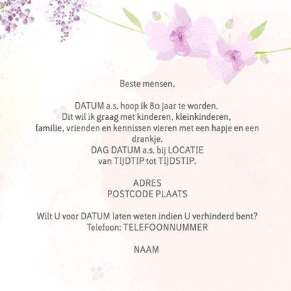 Uitnodiging leeftijd Orchidee 3