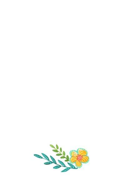 Uitnodiging Lentefeest Bloemen 3
