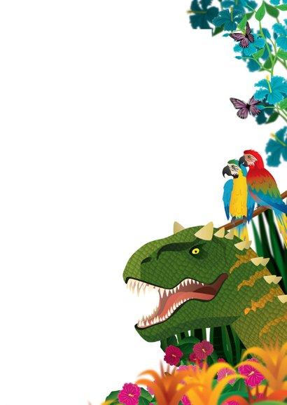 Uitnodiging partijtje jongen dinosaurus 3