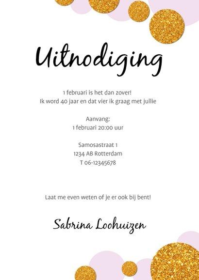 Uitnodiging Party! Modern en confetti 3