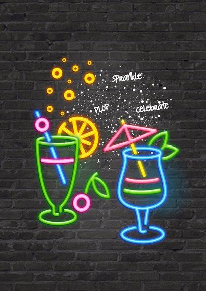 Uitnodiging party - neon 2