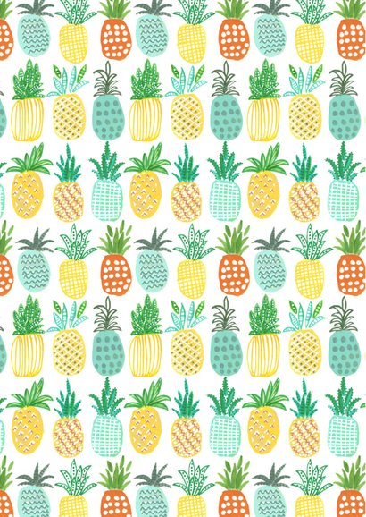 Uitnodiging Tropisch feestje Ananas 2