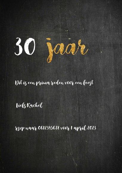 Uitnodiging verjaardag krijtbord 3