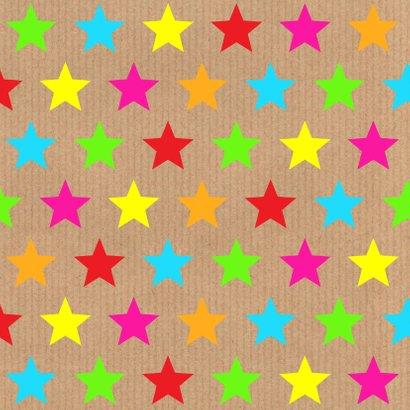 Uitnodiging verjaardag sterren kraft labelprint 2