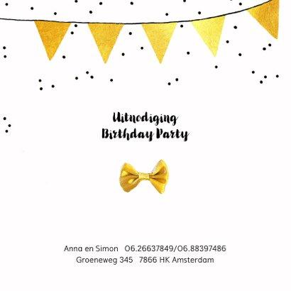 Uitnodiging verjaardagsfeest foto slingers 2