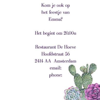 Uitnodiging vetplanten aquarel 3