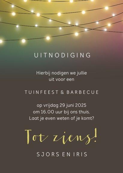 Uitnodiging voor een borrel of tuinfeest 3