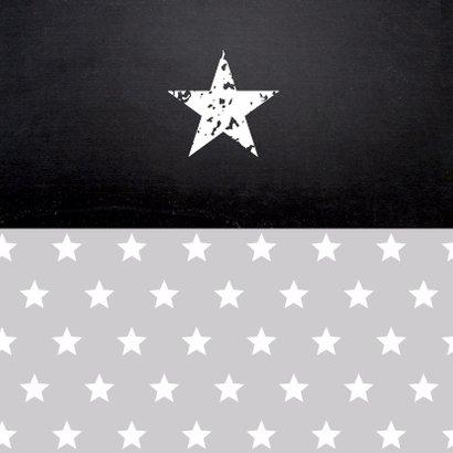 Uitnodiging vormsel sterren grijs foto jongen 2