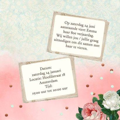 Uitnodiging vrouw rozen foto's 3