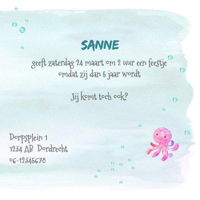 Uitnodiging zeemeermin 5e verjaardag 3